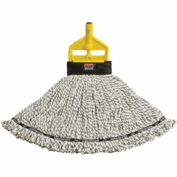 Rubbermaid Commercial Large White Maximizer Blended Mop Heads, 6 count