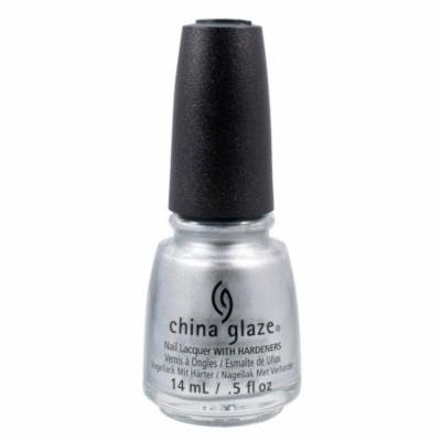 China Glaze 0.5oz Nail Polish Lacquer Clay Silver, I'D MELT FOR YOU, 1341