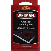 Weiman Cook Top Scrubbing Pads, 3 count, (Pack of 6)