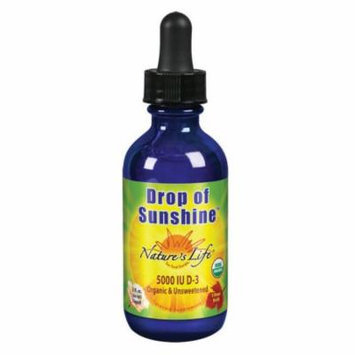 D3 Drop of Sunshine 5000 IU Unflavored Nature's Life 2 oz Liquid