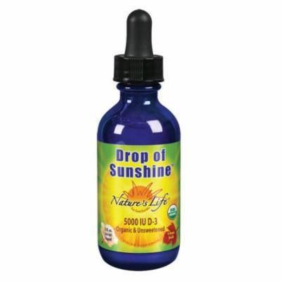 D3 Drop of Sunshine 5000 IU Unflavored Nature's Life 2 oz Liquid
