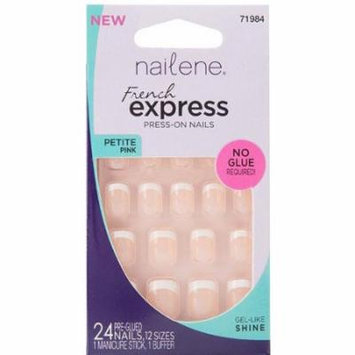 Nailene French Express Petite Pink Press-On Nails, 71984, 24 count