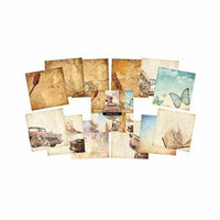 Indigoblu Paper Stack 190Gsm Cardstock 6X6-Vintage Memories Multi-Colored
