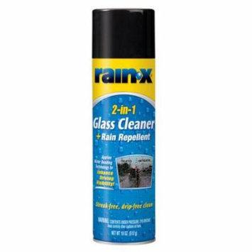 Rain- X 2-in-1 Glass Cleaner + Repellant Aerosol 18 oz