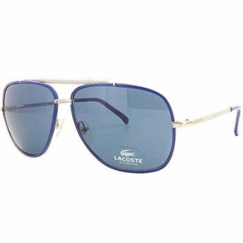 Lacoste L153S-60 Metal Blue Silver Aviator Sunglasses