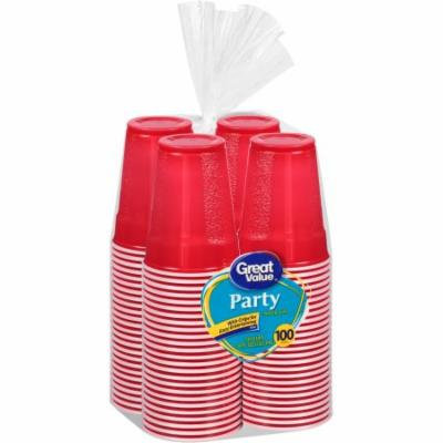 Great Value 18 Oz Plastic Party Cup, 100 ct