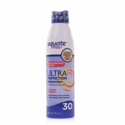 Equate Ultra Protection Sunscreen Continuous Spray, SPF 30, 6 fl oz