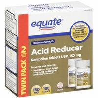 Equate Maximum Strength Acid Reducer Tablets 150mg, 65ct, 2pk
