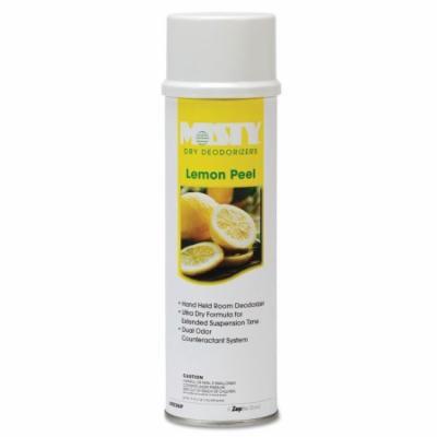 MISTY Hand-Held Space Spray Dry Deodorizer Lemon Peel Aerosol Can - 20-oz./ 12 per Case