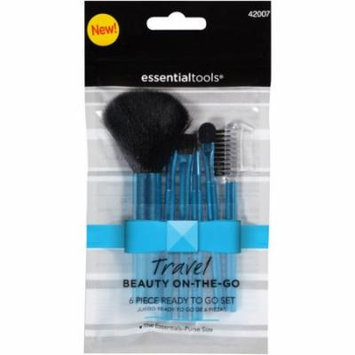 Essential Tools Travel Beauty On-the-Go Makeup Brush Set, 6 pc