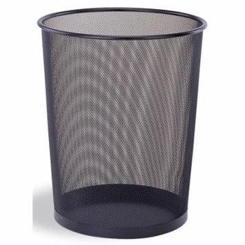 Mesh Round Wastebasket, Black