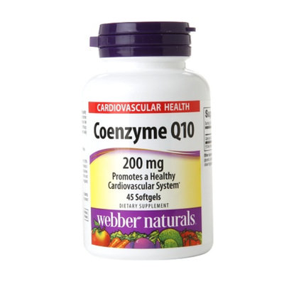 Webber Naturals Coenzyme Q10 200mg, Softgels