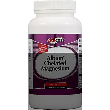 Vitacost Brand Vitacost Chelated Magnesium - Albion Magnesium Glycinate Chelate Buffered -- 180 Capsules