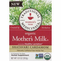 Traditional Medicinals Organic Mother's Milk Herbal Tea Bags, 16 count, (Pack of 3)
