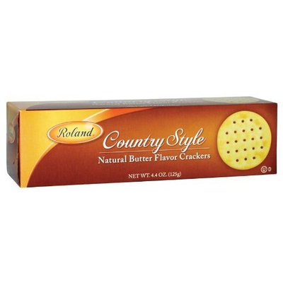 Roland Country Style Butter Crackers, 4.4-Ounce (Pack of 12)
