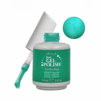 IBD Just Gel 0.5oz Soak Off Nail Polish Green, TURTLE BAY, 56524