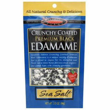 Seapoint Farms Sea Salt Crunchy Coated Black Edamame, 3.5 oz, (Pack of 12)