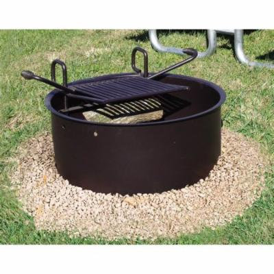 Drop Grate Fire Ring w Grill Handles