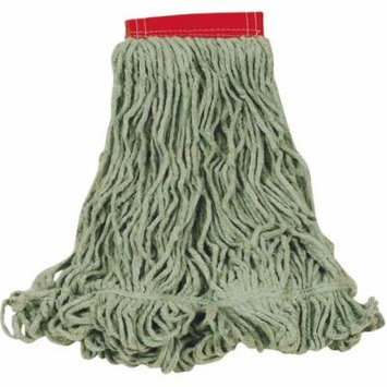 Rubbermaid Commercial Super Stitch Blend Cotton/Synthetic Large Green Mop Heads, 6 count
