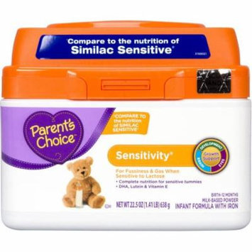 Parent's Choice Sensitivity Powder Infant Formula with Iron, 22.5oz