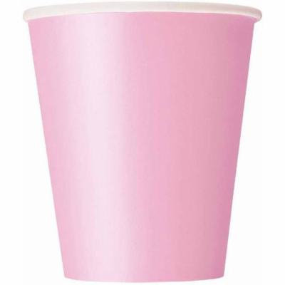 9 oz Light Pink Paper Cups, 14ct