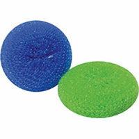 PLASTIC MESH SCOURERS 2 PACK