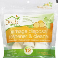 GrabGreen Tangerine with Lemongrass Garbage Disposal Freshener & Cleaner, 5.9 oz, (Pack of 12)