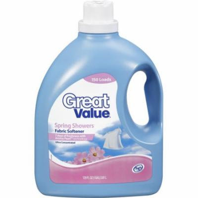 Great Value Spring Showers HE Fabric Softener, 129 oz