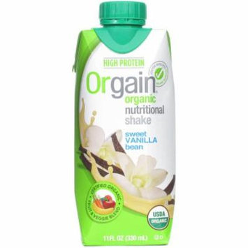 Orgain Sweet Vanilla Bean Nutritional Protein Shake, 11 fl oz, (Pack of 6)