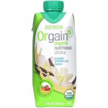 Orgain Sweet Vanilla Bean Nutritional Protein Shake, 11 fl oz, (Pack of 6)
