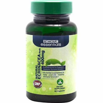 Betancourt Essentials Echinacea Root Herbal Supplement, 400 mg, 60 Count