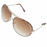 Full Rim Frame Coffee Lens Double Bridge Sunglasses