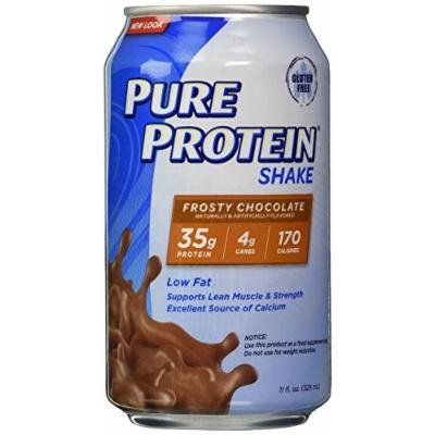 Pure Protein Ready to Drink Shake 35 Grams Protein, Frosty Chocolate (pack of 48) Pure-pf