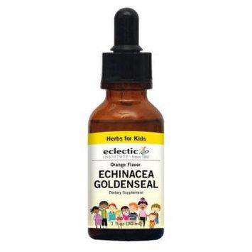 Kids Echinacea & Goldenseal - Orange No Alcohol Eclectic Institute 1 oz Liquid