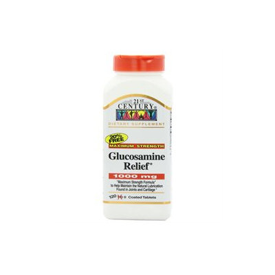 21st Century Healthcare Glucosamine Relief 1000 mg 120 Tablets, 21st Century Health Care
