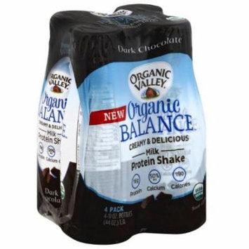 Organic Valley Organic Balance Dark Chocolate Milk Protein Shakes, 11 fl oz, 4 count, (Pack of 3)