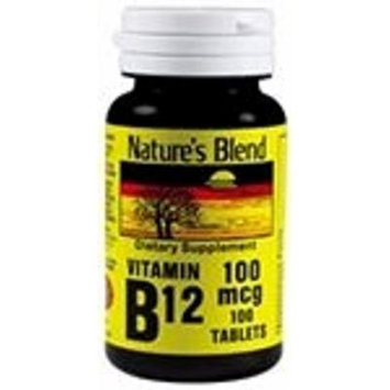 Nature's Blend Vitamin B-12 100mcg Tablets 100 Count (2 Pack)