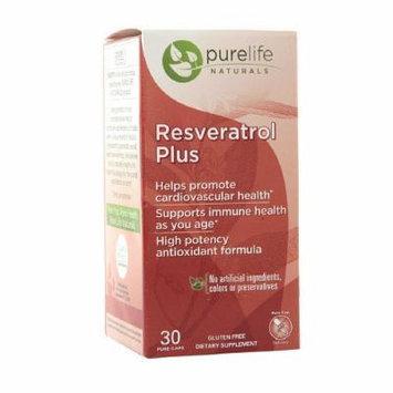 Pure Life Resveratrol Plus, Capsules 30 ea