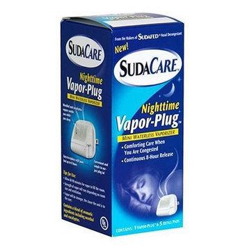 Sudacare Nighttime Vapor-Plug, Mini Waterless Vaporizer with 5 Refills (Pack of 3)