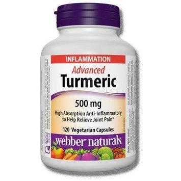 Webber Naturals Advanced Turmeric, 500mg, 120 veg-caps
