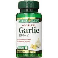 Nature's Bounty Garlic, Odorless, 1000 mg, Softgels, 100 ct. Pack of 4