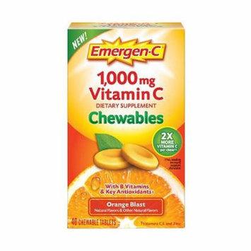 Emergen-C 1000 mg Vitamin C Chewables, Orange Blast 40 ea Pack of 4