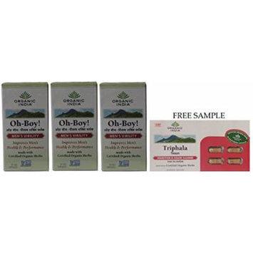 Organic India Oh-Boy - 30 Veg Capsules - Pack of 3 -