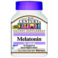21st Century Healthcare Melatonin 3 mg 90 Tablets, 21st Century Health Care