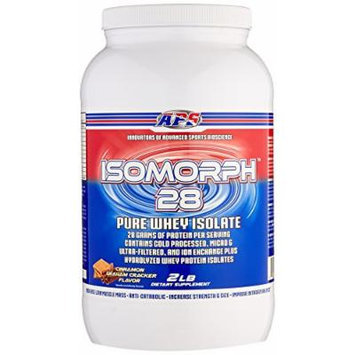 APS Nutrition IsoMorph, AAA-rated Pure/Highest Quality Whey Isolate Protein Supplement, Cinnamon Graham Cracker, 2 Pound