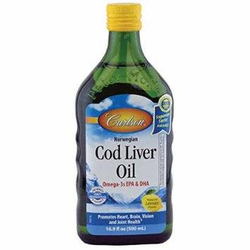 Carlson Norwegian Cod Liver Oil, Lemon 500 ml