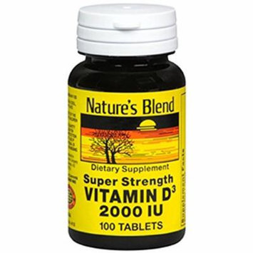 Nature's Blend Vitamin D3 2000 IU 100 Tablets Pack of 6