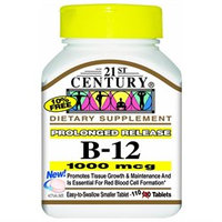 21st Century Healthcare Vitamin B-12 1000 mcg 110 Tablets, 21st Century Health Care