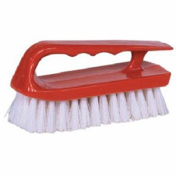 Weiler Hand Scrub Brushes - 6'' Scrub Brush Finger Grip Handle White (Set of 12)