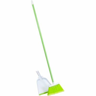 Lysol Upright Poly Broom & Dustpan